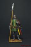 Французский городской ополченец, 1370 - Оловянный солдатик, роспись 54 мм. Все оловянные солдатики расписываются художником вручную