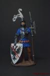 Европейский рыцарь, 15 век - Оловянный солдатик, роспись 54 мм. Все оловянные солдатики расписываются художником вручную