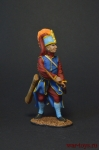 Турецкий янычар-лучник, XVIII в. - Оловянный солдатик, роспись 54 мм. Все оловянные солдатики расписываются художником вручную