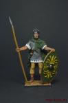 Римский вспомогательный пехотинец, 1-2 вв. н.э. - Оловянный солдатик, роспись 54 мм. Все оловянные солдатики расписываются художником вручную