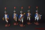 Набор оловянных солдатиков Аркестр - Набор оловянных солдатиков 5 шт. Высота солдатиков 54 мм.