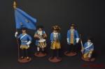 Набор оловянных солдатиков Шведы - Набор оловянных солдатиков 5 шт. Высота солдатиков 54 мм.