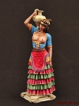 Минойская женщина 75 мм смола - Миниатюра смола коллекционная роспись 75 мм. Все оловянные солдатики расписываются художником вручную