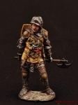 Баварский рыцарь с топором, 1350-70 - Оловянный солдатик коллекционная роспись 54 мм. Все оловянные солдатики расписываются художником вручную