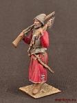 Стрелец в шапке, с бердышом и мушкетом на плечо - Оловянный солдатик коллекционная роспись 54 мм. Все оловянные солдатики расписываются художником вручную