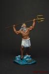 Посейдон - Оловянный солдатик коллекционная роспись 54 мм. Все оловянные солдатики расписываются художником вручную