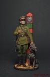 Младший сержант Пограничных войск НКВД, 1941 г. СССР - Оловянный солдатик, роспись 54 мм. Все оловянные солдатики расписываются художником вручную