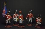 Набор оловянных солдатиков Англичане - Набор оловянных солдатиков 5 шт. Высота солдатиков 54 мм.