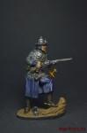 Панцирный казак польских гусар 1610 год, поход на Москву - Оловянный солдатик, роспись 54 мм. Все оловянные солдатики расписываются художником вручную