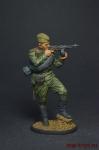 Автоматчик пехоты Красной Армии, 1943-45 гг. СССР - Оловянный солдатик, роспись 54 мм. Все оловянные солдатики расписываются художником вручную