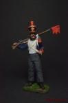 Капрал вольтижеров французской пехоты 1812-15 - Оловянный солдатик, роспись 54 мм. Все оловянные солдатики расписываются художником вручную