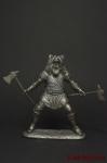 Викинг - фентези - Не крашенный оловянный солдатик. Высота 54 мм