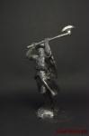 Рыцарь-крестоносец, 12-13 вв. - Не крашенный оловянный солдатик. Высота 54 мм.