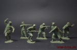 Набор солдатиков - Оборона Сталинграда - Набор солдатиков 6 шт. Масштаб 1/32 (высота 54 мм.). Материал-пластик