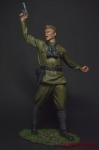 Вторая мировая. Политрук 90 мм - Оловянный солдатик коллекционная роспись 90 мм. Все оловянные солдатики расписываются художником вручную