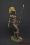 Миры Фэнтези: Дикарка - Оловянный солдатик коллекционная роспись 54 мм. Все оловянные солдатики расписываются художником вручную