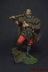 Германский воин, 2 век н.э. 75 мм - Оловянный солдатик коллекционная роспись 75 мм. Все оловянные солдатики расписываются художником вручную