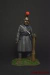 Партизан с дубиной, 1812 г - Оловянный солдатик коллекционная роспись 54 мм. Все оловянные солдатики расписываются художником вручную