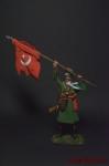 Казак донского казачьего полка с трофейным знаменем - Оловянный солдатик коллекционная роспись 54 мм. Все оловянные солдатики расписываются художником вручную
