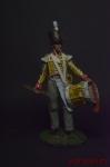 Барабанщик 27 пехотного полка, 1809-15 - Оловянный солдатик коллекционная роспись 54 мм. Все оловянные солдатики расписываются художником вручную