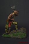 Воин Ирокез - Оловянный солдатик коллекционная роспись 54 мм. Все оловянные солдатики расписываются художником вручную