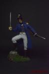 Лейтенант старой гвардии Наполеона 1812 год - Оловянный солдатик коллекционная роспись 54 мм. Все оловянные солдатики расписываются художником вручную