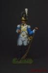 Рядовой шведского гренадерского полка 1808-1817 - Оловянный солдатик коллекционная роспись 54 мм. Все оловянные солдатики расписываются художником вручную