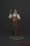 Цирюльник - Оловянный солдатик коллекционная роспись 54 мм. Все оловянные солдатики расписываются художником вручную