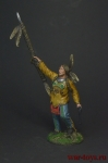 Индеец с копьем - Оловянный солдатик коллекционная роспись 54 мм. Все оловянные солдатики расписываются художником вручную