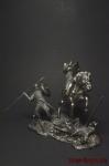 Битва при Гастингсе - Оловянный солдатик. Чернение. Высота солдатика 54 мм
