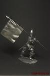 Знаменосец Конкистадор - Оловянный солдатик. Чернение. Высота солдатика 54 мм