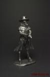 Венецианский чумной доктор - Оловянный солдатик. Чернение. Высота солдатика 54 мм