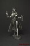 Девушка с бутылкой вина - Оловянный солдатик. Чернение. Высота фигурки 54 мм