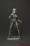 Девушка с кнутом - Оловянный солдатик. Чернение. Высота фигурки 54 мм