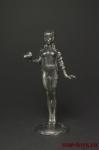 Девушка с фотоаппаратом - Оловянный солдатик. Чернение. Высота фигурки 54 мм