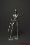 Женщина- полицейский - Оловянный солдатик. Чернение. Высота фигурки 54 мм