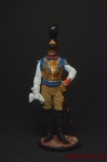 Офицер первого карабинерного полка, Франция, 1810-15 - Оловянный солдатик коллекционная роспись 54 мм. Все оловянные солдатики расписываются художником вручную
