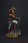 Леди-пират 75 мм - Оловянный солдатик коллекционная роспись 75 мм. Все оловянные солдатики расписываются художником вручную