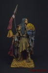 Индеец с луком 75 мм - Оловянный солдатик коллекционная роспись 75 мм. Все оловянные солдатики расписываются художником вручную