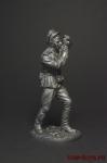 Военный фотокорреспондент ст. лейтенант, 1943-45 СССР - Оловянный солдатик. Чернение. Высота фигурки 54 мм