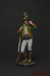 Рядовой Каталонского батальона лёгкой пехоты. Испания, 1807-08 - Оловянный солдатик коллекционная роспись 54 мм. Все фигурки расписываются художником вручную