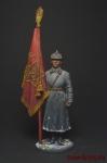 Старший сержант РККА со знаменем. 1941 г. СССР - Оловянный солдатик коллекционная роспись 54 мм. Все фигурки расписываются художником вручную