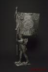 Портупей-прапорщик Лейб-гвардии Литовского полка - Оловянный солдатик. Чернение. Высота фигурки 54 мм