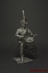 Барабанщик Лейб-гвардии Литовского полка - Оловянный солдатик. Чернение. Высота фигурки 54 мм