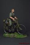 Рядовой на велосипеде - Оловянный солдатик коллекционная роспись 54 мм. Все фигурки расписываются художником вручную