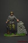Пулеметчик. Сталинград, 1943 - Оловянный солдатик коллекционная роспись 54 мм. Все фигурки расписываются художником вручную