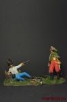Генерал Лассаль и венгерский гренадер - Оловянный солдатик коллекционная роспись 54 мм. Все фигурки расписываются художником вручную
