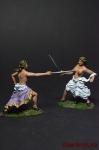 Набор Мадам на дуэли - Оловянный солдатик коллекционная роспись 54 мм. Все фигурки расписываются художником вручную