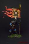 Русский дружинник-знаменосец, 14 век - Оловянный солдатик коллекционная роспись 54 мм. Все фигурки расписываются художником вручную