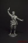 Комбат, капитан пехоты Красной Армии, 1941-43 СССР - Оловянный солдатик. Чернение. Высота фигурки 54 мм
